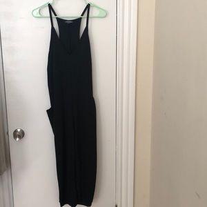 NWOT: Black low side jumpsuit